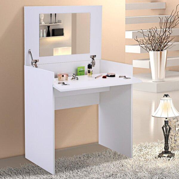 Migel Flip-up Vanity With Mirror By Ebern Designs