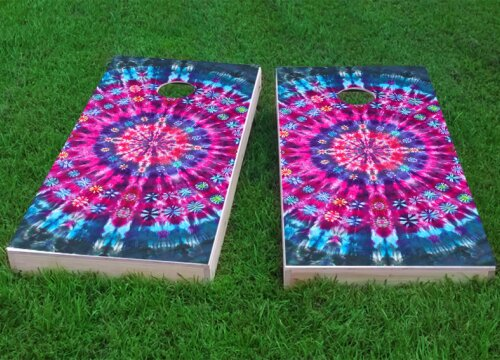 Tie Dye Cornhole Game (Set of 2) by Custom Cornhole Boards
