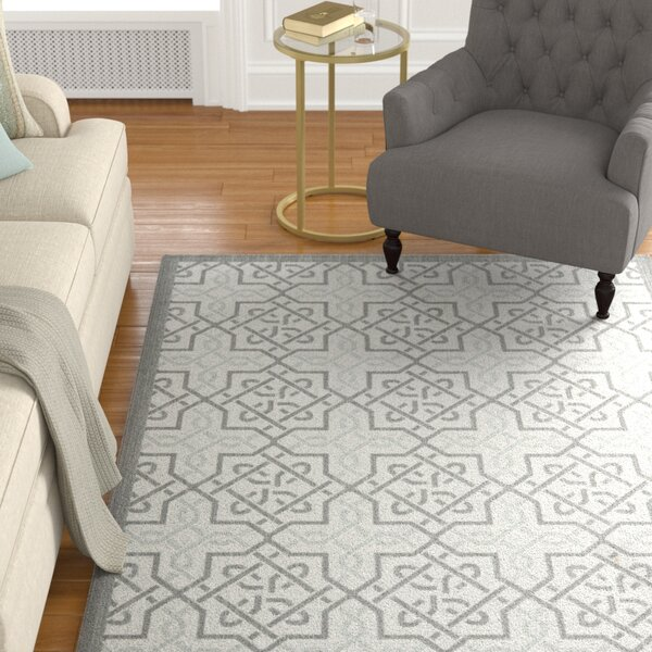 Poole Light Gray/Anthracite Indoor/Outdoor Area Rug by Charlton Home
