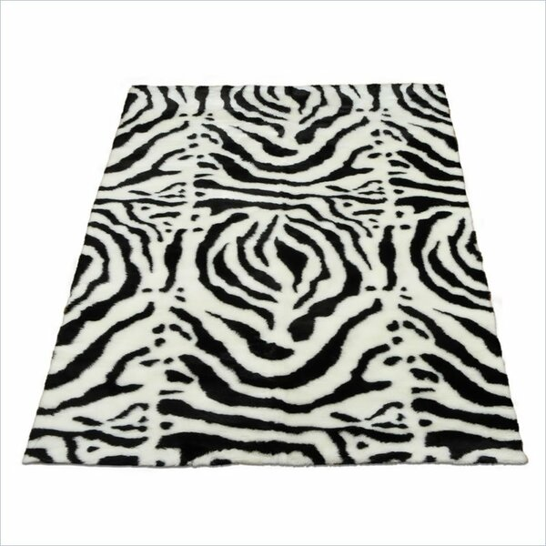 Animal Zebra White/Black Spine Area Rug by Walk On Me