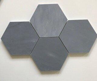 Bardiglio 5 x 5 Marble Mosaic Tile in Blue/Gray by La Maison en Pierre