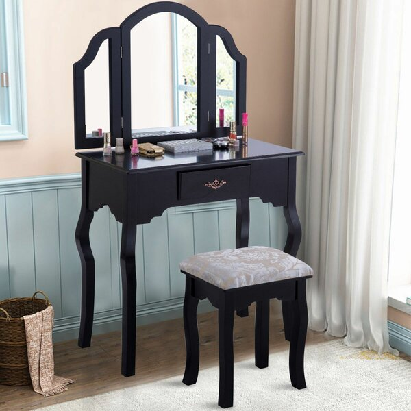 Louth Vanity Set with Mirror by Charlton Home