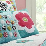 Abby/Jane Flower Decorative Cotton Throw Pillow by Amity Home