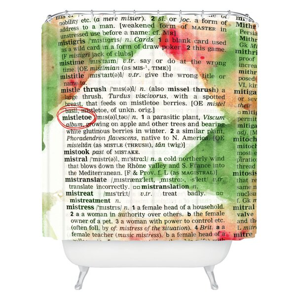 Susanne Kasielke Mistletoe Dictionary Art Shower Curtain by Deny Designs