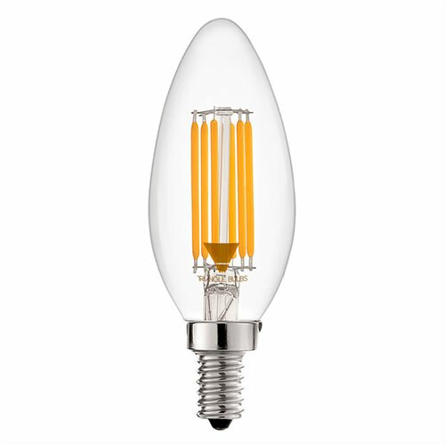 40W Equivalent E12 LED Candle Light Bulb by TriGlow
