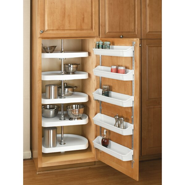 Polymer Pantry D Shape 5 Tier Lazy Susan by Rev-A-Shelf