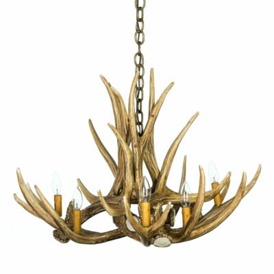 Natasha Mule/Deer 6 - Light Unique / Statement Classic / Traditional Chandelier with Antler Accents by Millwood Pines Millwood Pines