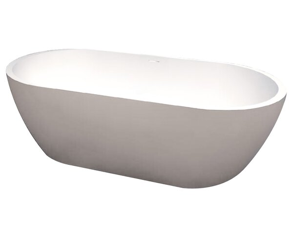 Sherwood 71 x 32 Freestanding Soaking Bathtub by Transolid