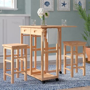 Compare Wynyard 3 Piece Pub Table Set ByBeachcrest Home