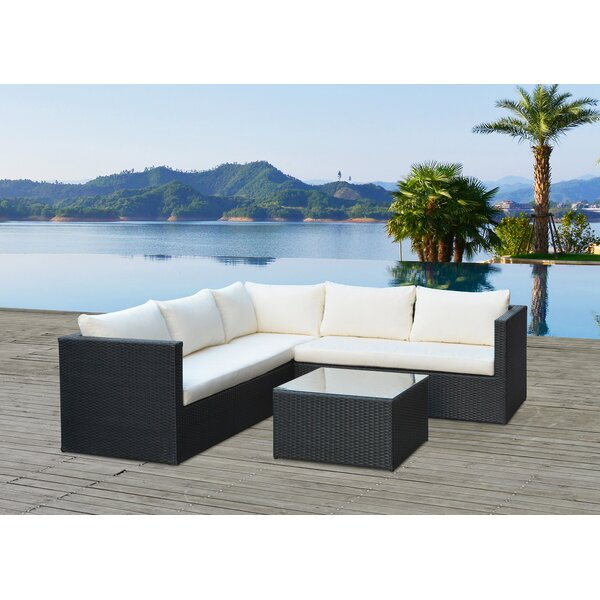 Lugo 4 Piece Sofa Set with Cushions by Mano Patio