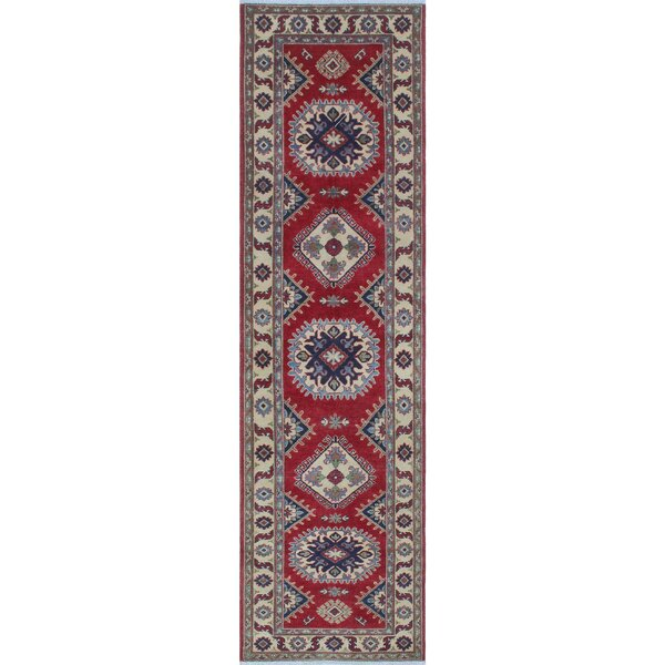 Crosby Kazak Hand Knotted Wool Red Area Rug by Canora Grey