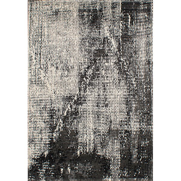 Ayaan Cream/Dark Gray Area Rug by 17 Stories