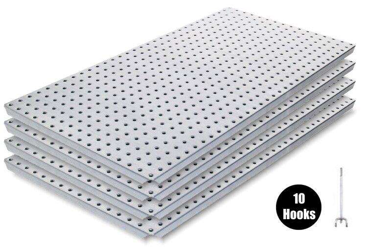 Alligator Board Metal Pegboard Panel Kit 4 With Flange