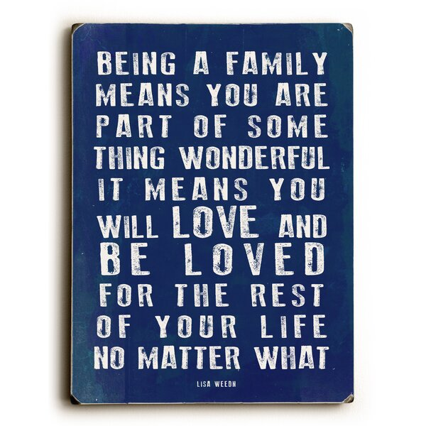 Being a Family Textual Art by Artehouse LLC