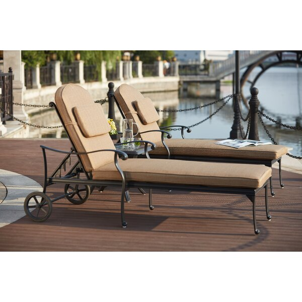 Melchior 3 Piece Chaise Lounge Set with Cushions by Astoria Grand Astoria Grand
