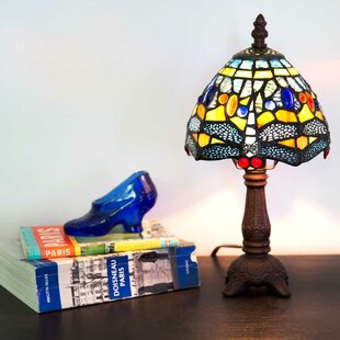 Mini tiffany ceiling lamps wayfair cresskill mini hanging head dragonfly tiffany 12 table lamp aloadofball Images