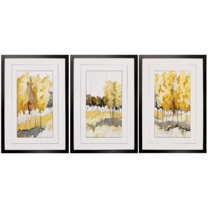 Grasslands 3 Piece Framed Painting Print Set by Propac Images