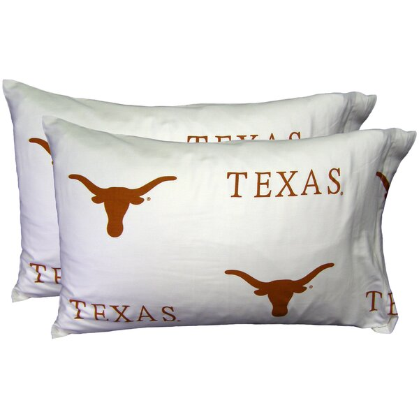 NCAA Texas Pillowcase (Set of 2) by College Covers