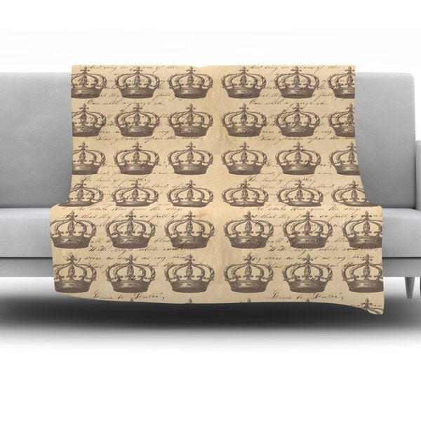 Crowns by Suzanne Carter Fleece Throw Blanket by KESS InHouse