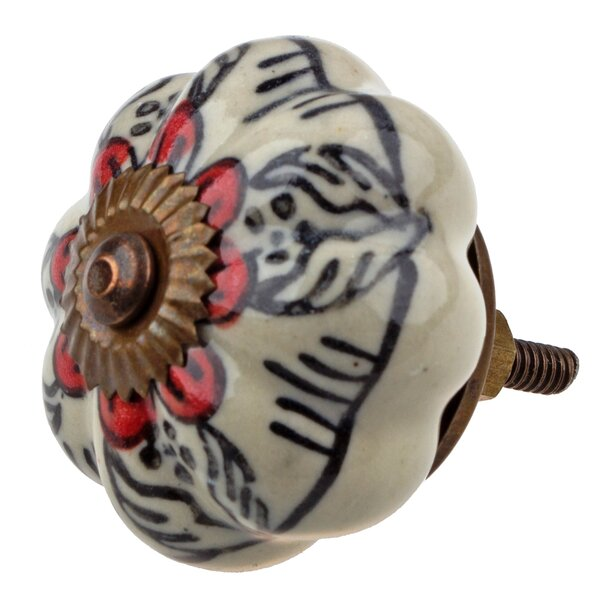 Handpainted Flower Novelty Knob (Set of 10) by GlideRite Hardware
