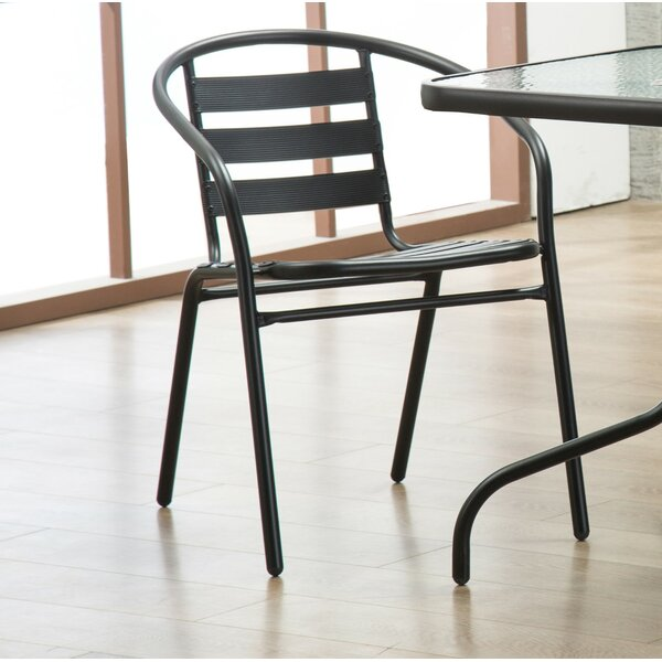 Bemadette Stack Patio Dining Chair (Set of 2) by H