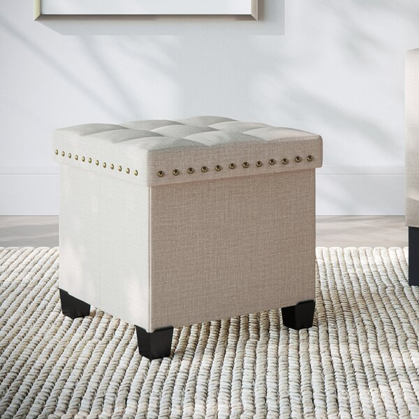 Revell Tufted Cube Ottoman by Winston Porter