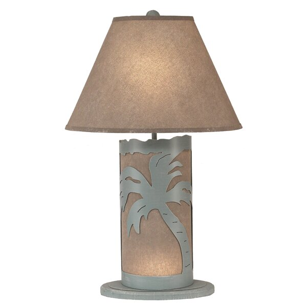 Bernardston Palm Tree Scene Panle 30 Table Lamp by Bay Isle Home