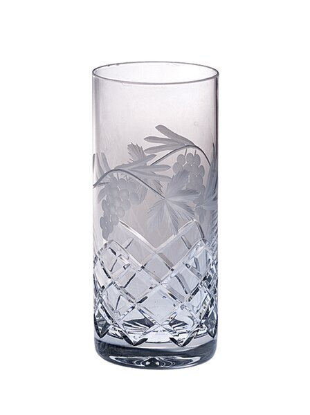 Grape 14 oz. Crystal Highball Glass (Set of 4) by Majestic Crystal
