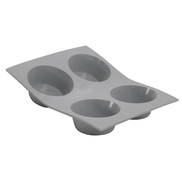 Elastomoule Silicone Muffin Portions Mold by De Buyer