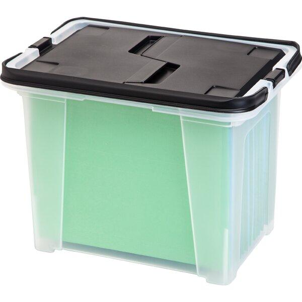 Portable Wing Lid File Box (Set of 4) by IRIS USA, Inc.