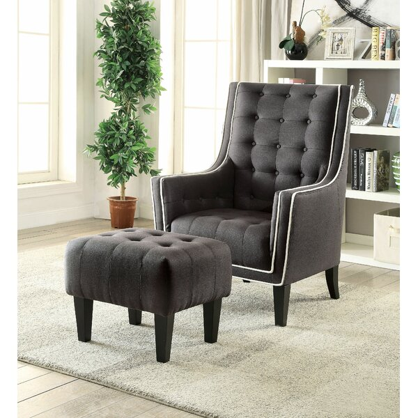 Bentlee Armchair and Ottoman by Darby Home Co Darby Home Co