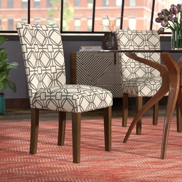 Second Avenue Parsons Lattice Upholstered Dining Chair (Set of 2) by Ivy Bronx