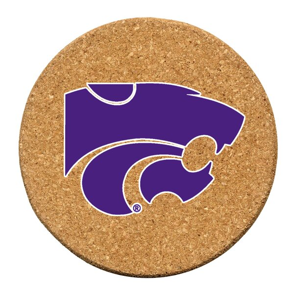 Kansas State University Cork Collegiate Coaster Set (Set of 6) by Thirstystone
