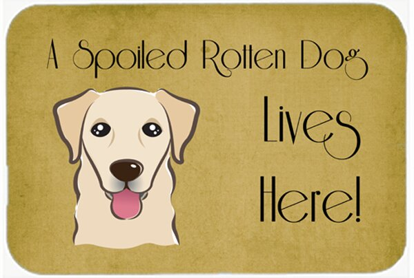 Retriever Spoiled Dog Lives Here Kitchen/Bath Mat by East Urban Home