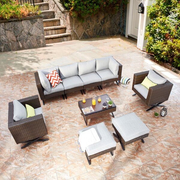 Rimersburg 9 Piece Sofa Seating Group with Cushions by Latitude Run