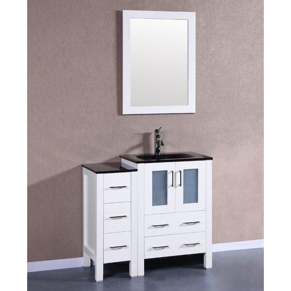 Danville 36 Single Bathroom Vanity Set with Mirror by Bosconi