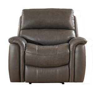 Forbes Leather Manual Wall Hugger Recliner by Red Barrel Studio