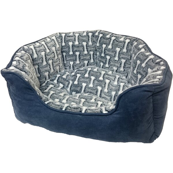 Sleep Zone Cuddle Cave Corduroy Bolster Dog Bed by Ethical Pet