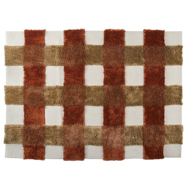 Hogsett Hand-Tufted Rust Area Rug by Red Barrel Studio