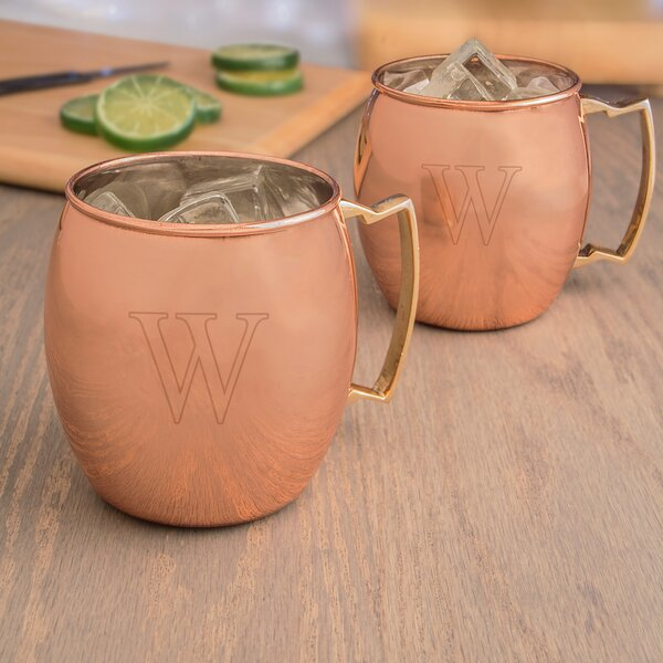 Personalized Moscow Mule Copper Mug (Set of 2) by Cathys Concepts