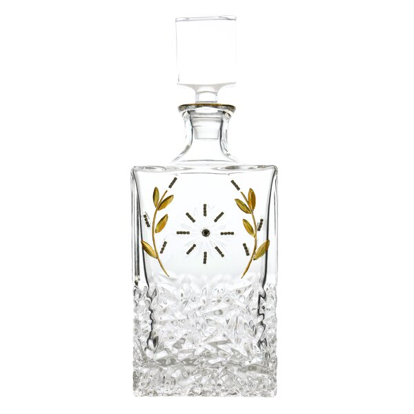 Frances Sun and Wheat Stranded Crystal Accented 28 Oz. Decanter by Red Barrel Studio