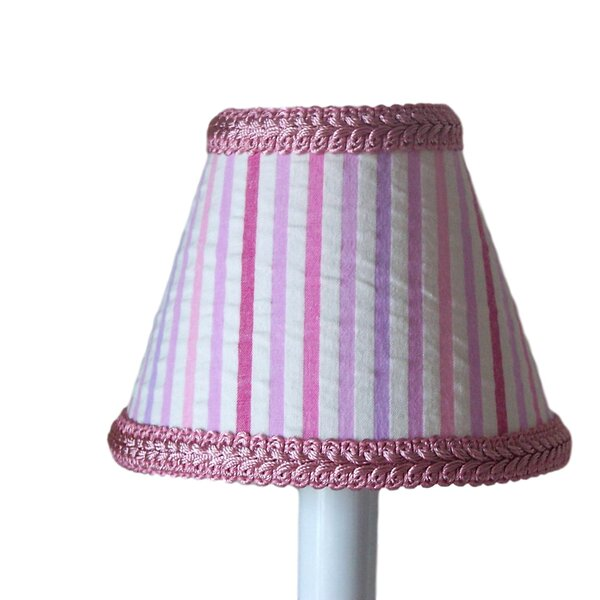 Merry-Go-Round 7 H Fabric Empire Lamp Shade ( Screw On ) in Pink/White
