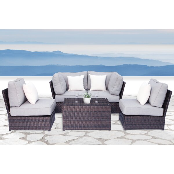 Widener 5 Piece Sectional Seating Group with Cushions by Sol 72 Outdoor