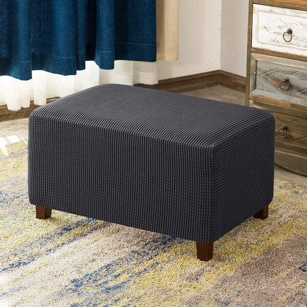 Elastic Spandex Oversized Box Cushion Ottoman Slipcover By CHUN YI