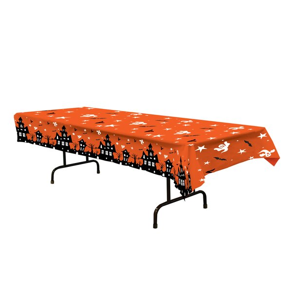 Halloween Haunted House Tablecloth