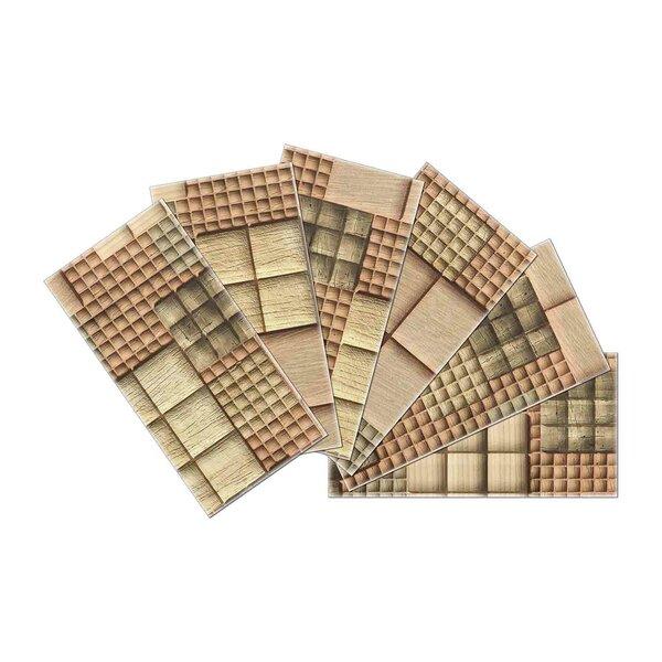 Crystal Skin 3 x 6 Glass Subway Tile in Brown by SkinnyTile