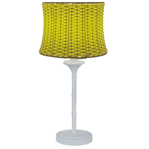 Evrard Basketweave Outdoor 25.25 Table Lamp by Highland Dunes