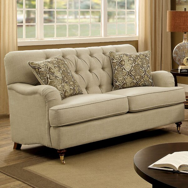 Discover Luxurious Broadway Loveseat by Three Posts by Three Posts