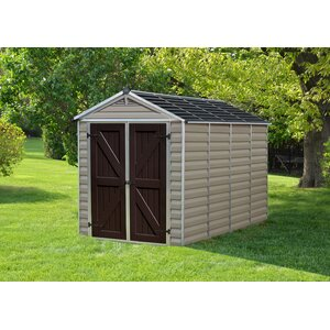 SkyLightu0099 6 ft. 1 in. W x 9 ft. 11 in. D Plastic Storage Shed
