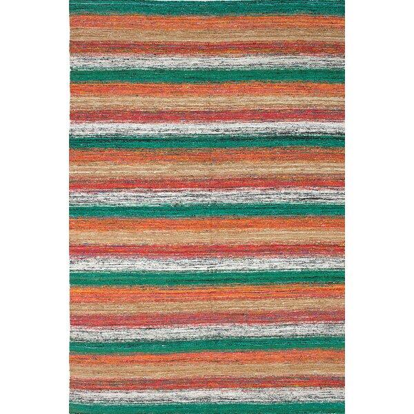 Cowden Handmade Green/Beige/Orange Area Rug by World Menagerie